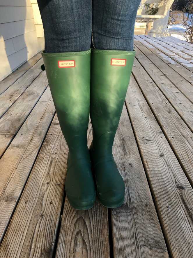 I had been eyeing Hunter boots for years and finally made the plunge in May  2017 once I found the tall HUNTER Adjustable Calf boot in my favorite  color b4024793e